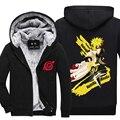 New winter coats NARUTO hoodie jackets light Anime Hooded Zipper men thick cardigan Uchiha Madara Minato Pain