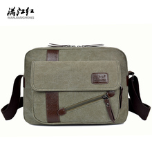 New Arrival Fashion Men's Travel Shoulder Bags Casual Men Messenger Bags High Quality Wash Canvas Retro Briefcase Men Bag