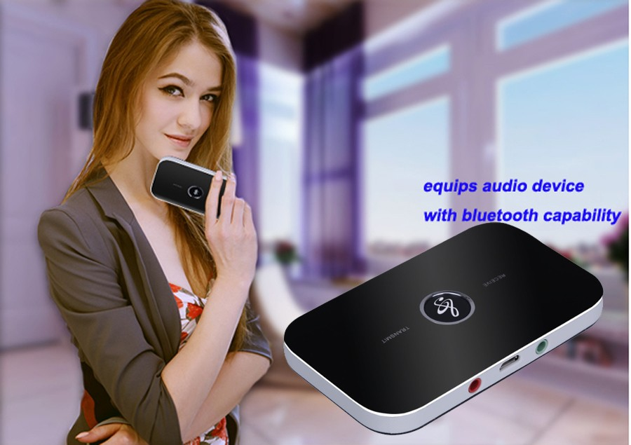 B6 bluetooth wireless audio receiver and transmitter 2in1 adapter  2