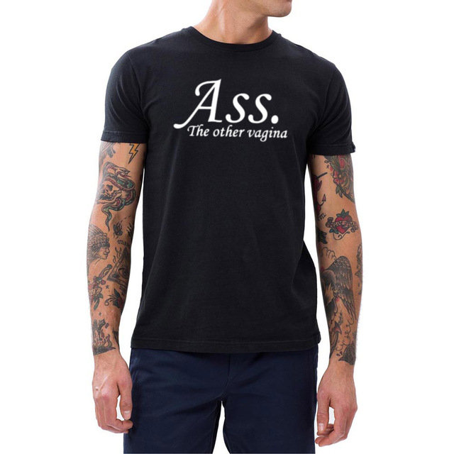Mens Ass The Other Vagina Funny Cool T Shirts Men Tee-in T-Shirts ...