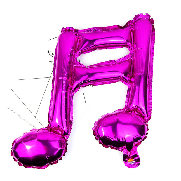 10 Pcs 16 Inch Note Balloon Romantic Wedding Engagement Music Festival Shiny Birthday Party Fashion Balloon Decoration Supplies in Ballons Accessories from Home Garden