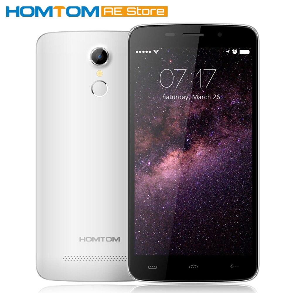 "Цена за Homtom ht17 смартфон 4 г fdd lte android 6.0 quad core mtk6737 5.5 ""1 ГБ + 8 ГБ Две Камеры Отпечатков Пальцев Быстрая Зарядка Мобильного Телефона"