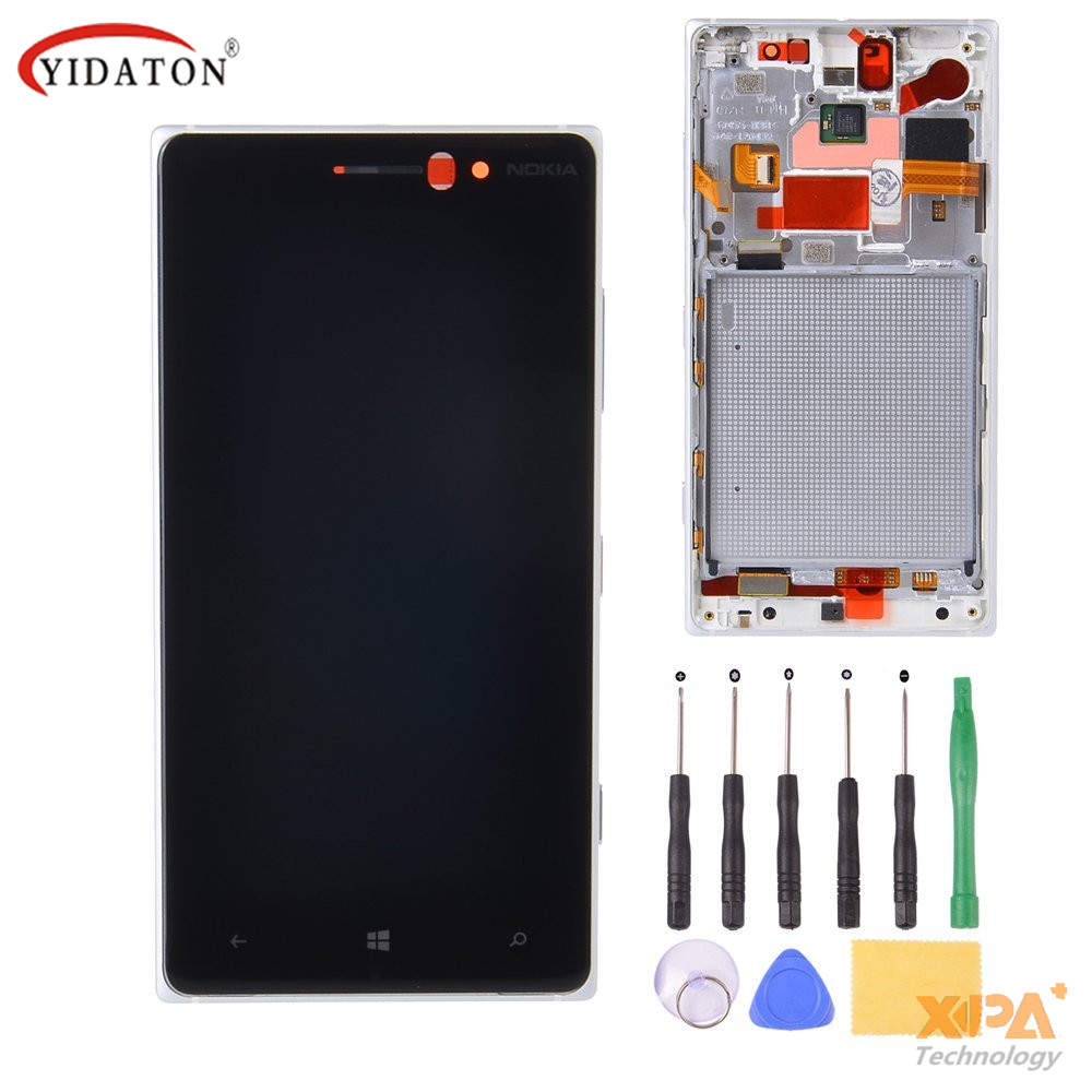 For Nokia Lumia 830 LCD Display with Touch Screen Diaplay Digitizer Assembly + Frame Black/Silver/White+Tools Free Shipping lcd screen display touch panel digitizer with frame for htc one m9 black or silver or gold free shipping