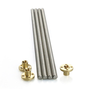 Anet Length 500 600 700mm Stainless Steel T8 Lead Screw Dia 8MM Pitch 2mm Lead 2mm