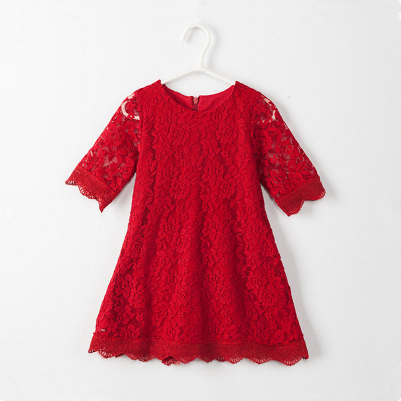 Teenage Girls Dresses Summer England Style Lace Flower Princess Dress For Girl Wedding Party Prom Costume Kids Clothes Floral