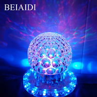 BEIAIDI Mini RGB Crystal Magic Ball LED Stage Effect Lighting Lamp Bulb Laser Projector Party Disco