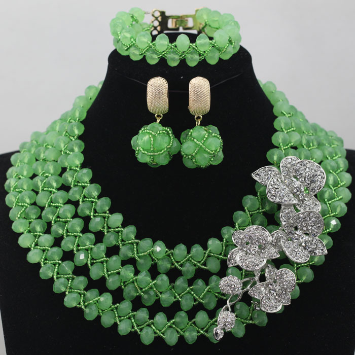 Green African Beads Jewelry Set 2017 Beautiful Nigerian Wedding Bridal/Bridesmaid Jewelry Set Handmade Free Shipping hx458Green African Beads Jewelry Set 2017 Beautiful Nigerian Wedding Bridal/Bridesmaid Jewelry Set Handmade Free Shipping hx458