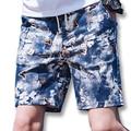 2017 Hombres de Verano Activo de Playa Bermudas Masculina de Los Hombres de Moda Casual Delgado Se Adapta A la Longitud de La Rodilla Pantalones Cortos Hombre