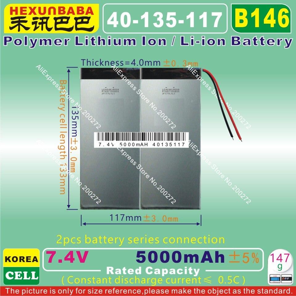 Polymer Lithium Ion / Li-ion Battery For Tablet Pc,e-book,speaker b146 40135117 7.4v,5000mah, Objective