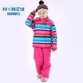 Детские водонепроницаемые ветрозащитные теплые лыжные куртки термальный детский лыжный костюм зимние комплекты одежды для походов и похо
