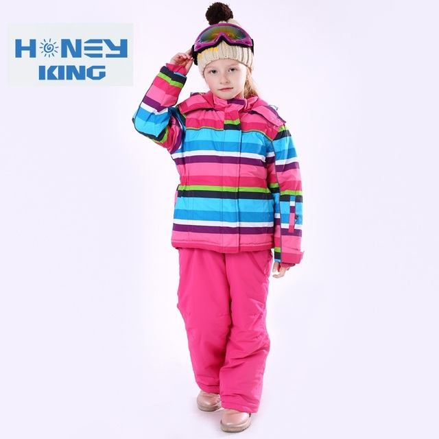 Children Waterproof Windproof Warm Skiing Jackets Thermal Kids Ski Suit Girls Winter Camping Hiking Clothes Sets Size 98-164cm
