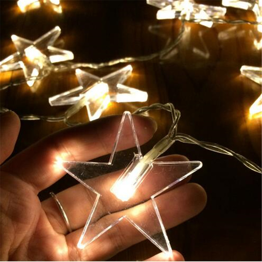 10M 80 LED Five-pointed Star Fairy String Lights for Outdoor Indoor Wedding Decorations Party Garden Home Party Christmas Decor