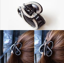 Rhinestone Bowknot Love Large Hair Claws