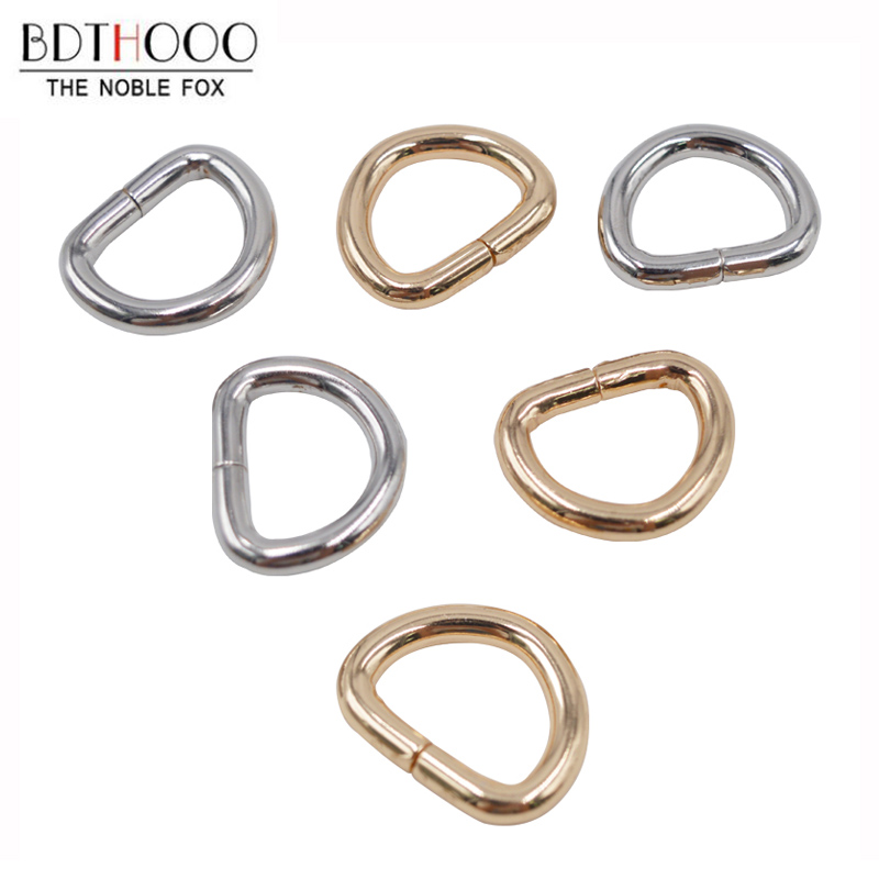 BDTHOOO 40pcs Inner 13mm D-Ring Metal Buckle Small Silver Gold For DIY Bag Strap Buckle Luggage Garment Belt Hardware Accessory