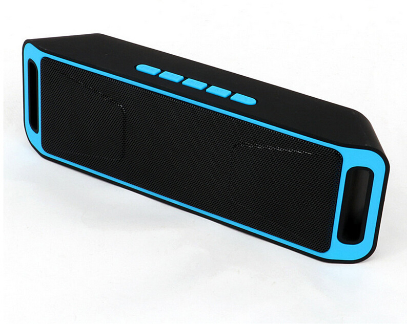 Portable Bluetooth Speaker tanpa wayar Mini Speaker Amplifier Stereo Subwoofer Speaker TF USB FM Radio Built-in Mic Dual Bass SP208
