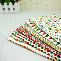 Christmas Design Linen Fabrics Diy Cloth Sewing Tilda Cotton Fabric Patchwork Tissue Home Textile Woven Telas