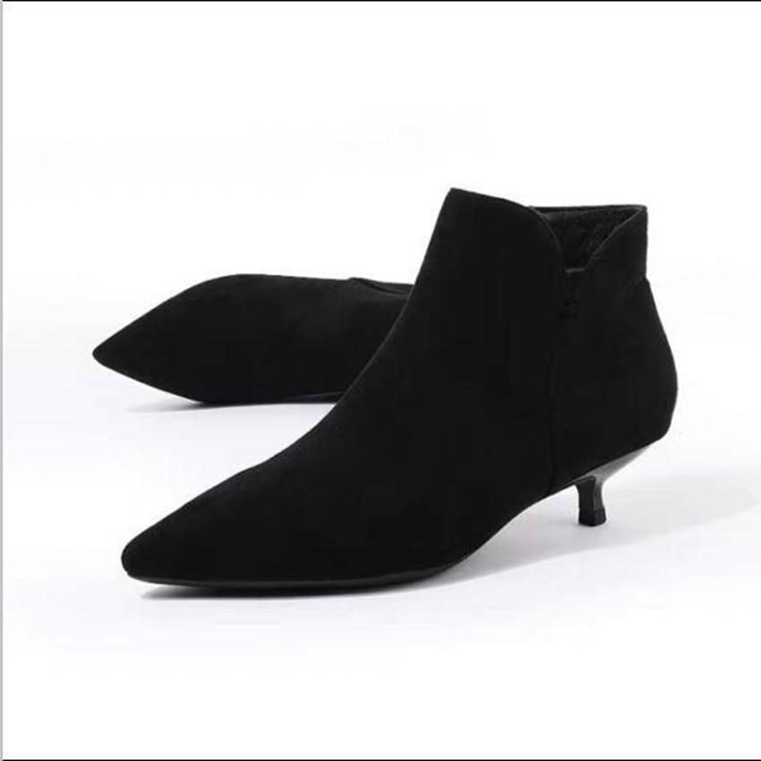 migliori scarpe da ginnastica c9b8e 9e7fe Zip Caldi Tacchi Scarpe Nero L'inverno Stivaletti Donne ...