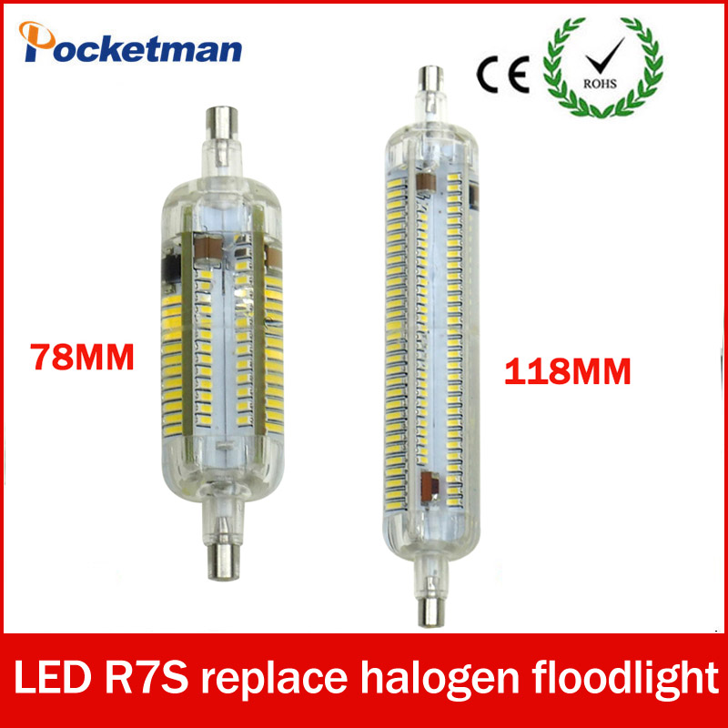 Silicone R7S LED Lamparas AC 220V 240V Corn Lamp 78mm 118mm Light SMD 3014 Bulb 10W 20W Replace Halogen Bombillas 360 Degree 5w g9 45 x smd 3014 6500k silicone led corn lamp crystal spotlight bulb
