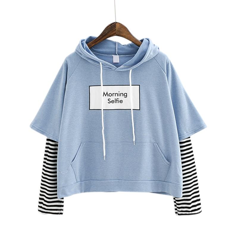Mutter & Kinder Weiche Mädchen Niedlichen Kaninchen Brief Frauen Hoodies Japanischen Kawaii Häschen Grafische Vintage Sweatshirts Kpop Langarm Rüschen Kleidung 2019 New Fashion Style Online