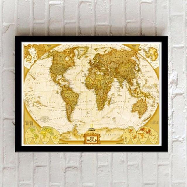 Enmarcado pintura carta globo mapa del mundo decoración fotos a la ...