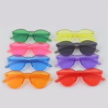Color Therapy Glasses,Colorful Transparent Round Super Retro Sunglasses -1pcs Packs