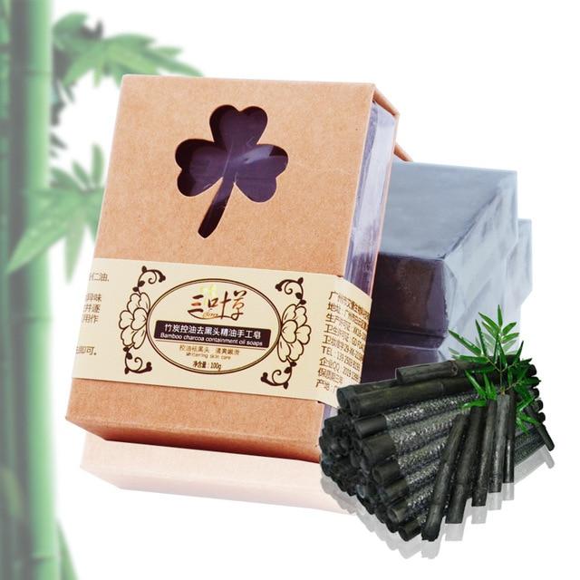 100 г Bamboo Уголь Мыло Ручной Работы Масла Управления Удалить Нос Черноголовых Лица Мыло