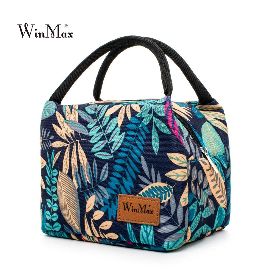 2018 Winmax marca alimentos frescos mantener almuerzo Picnic impermeable viaje de almacenamiento bolsa de hielo aislamiento térmico bolsas de almuerzo moda