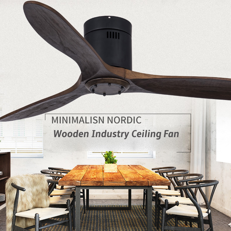 Luxury Wooden Pendant Fan 42 52 Inch Vintage Ceiling Fans With Lights And Remote Control 3 Wooden Blades Best Price 108b Cicig