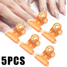5pcs/set Plastic Nail Pinching Clips Fixed Clamps DIY Manicure Salon Tool 22mm for Long Nails Tools