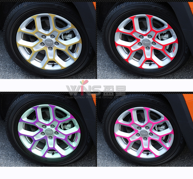 Jeep Renegade Stickers >> For Jeep Renegade 2016 2017 Wheel Hub Rim 3M Sticker Black Car Decoration Styling Accessories-in ...