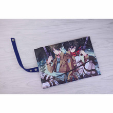 Attack On Titan Eren Jaeger & Mikasa Ackerman Canvas Stationery Pouch Pencil Bag (18 styles)