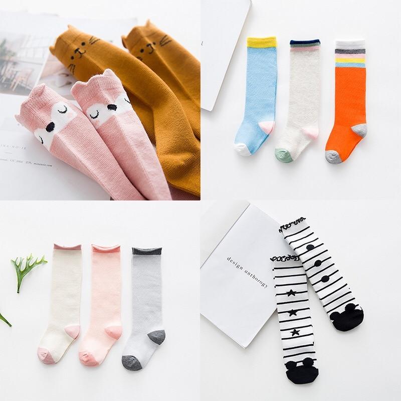 Kids Long Socks Knee High toddler Girls Boot Sock Leg Warmer Cute Cat Black baby Cotton Sock for baby girls sloth socks
