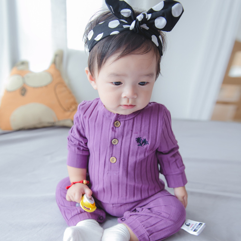 New Autumn Baby girl jumpsuit Pajamas infants Rompers Newborn cotton long sleeve underwear striped jumpsuit  Top quality boy girl rompers autumn baby cotton one pcs rompers baby long sleeve jumpsuit bebe coverall baby pajamas