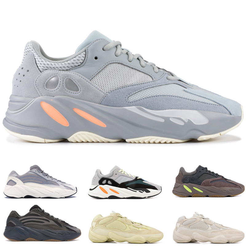 pretty nice 89cc1 413a5 700 Wave Runner Inertia Mens Women Designer Sneakers New 700 V2 Static  Vanta Best Quality Kanye West Sport Shoes With Box