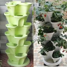 3 Tier Stackable Strawberry Herb Flower Vegetable Planter Balcony kitchen Succulent Pots Home Garden Decoration