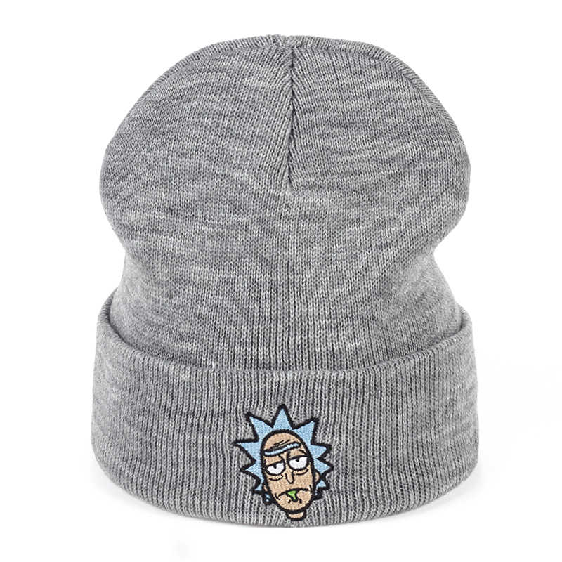 df4d37551d157 Rick and Morty Winter Hats Rick Beanies Elastic Brand Embroidery Ski Gorros  Cap Warm Unisex Knitted