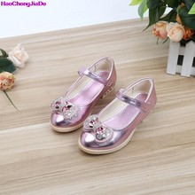 HaoChengJiaDe niños Rhinestone Glitter niños niñas zapatos de cuero  princesa chicas sandalias grandes chicas zapatos de 0b48d927c802