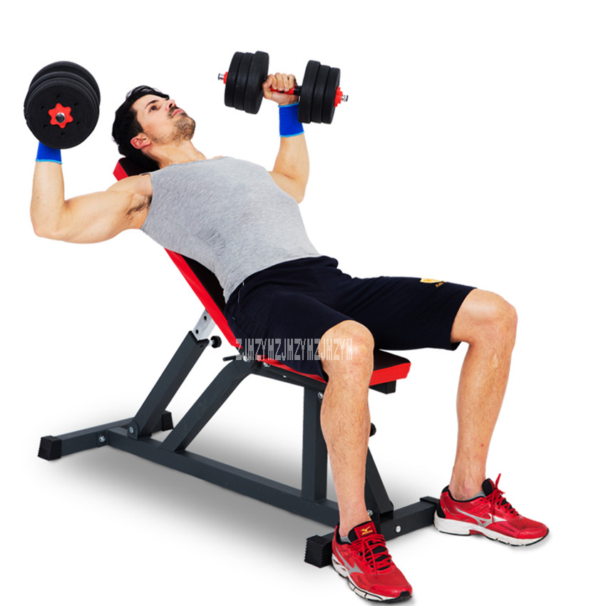 Sit Up Bench Adjustable Professional Dumbbell Stool Fitness Equipment Training Chair Abdominal Board Body Building Slant Board