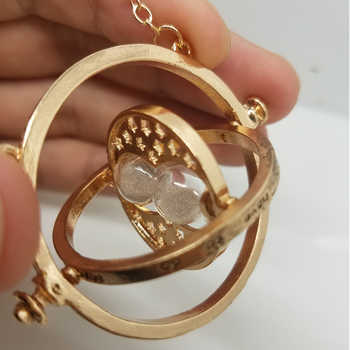 205pcs/lot Time Turner Hermione Granger Rotating Spins Hourglass Necklaces & Pendant Gold Color Time Backflow Converter Necklace - DISCOUNT ITEM  10% OFF All Category
