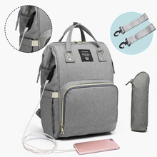 Fashion Mummy Maternity Nappy Bag Large Capacity Baby Bag Travel Backpack Nursing Bag for Baby Care With USB Interface