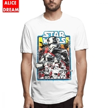 Staw wars t shirt For Men Vintage Stormtroopers Tee Fashion Streetwear Homme Shirt Pure Cotton S-6XL Plus Size