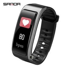 Nowy kobiety Sport wodoodporny zegarek tętna Monitor ciśnienia krwi inteligentna bransoletka słuchawki 2 w 1 mężczyzn Fitness Tracker krokomierz tanie tanio Cyfrowe Zegarki Na Rękę Odpowiedź połączeń Bluetooth Auto data Stoper Wyświetlacz tydzień Wiadomość przypomnienie