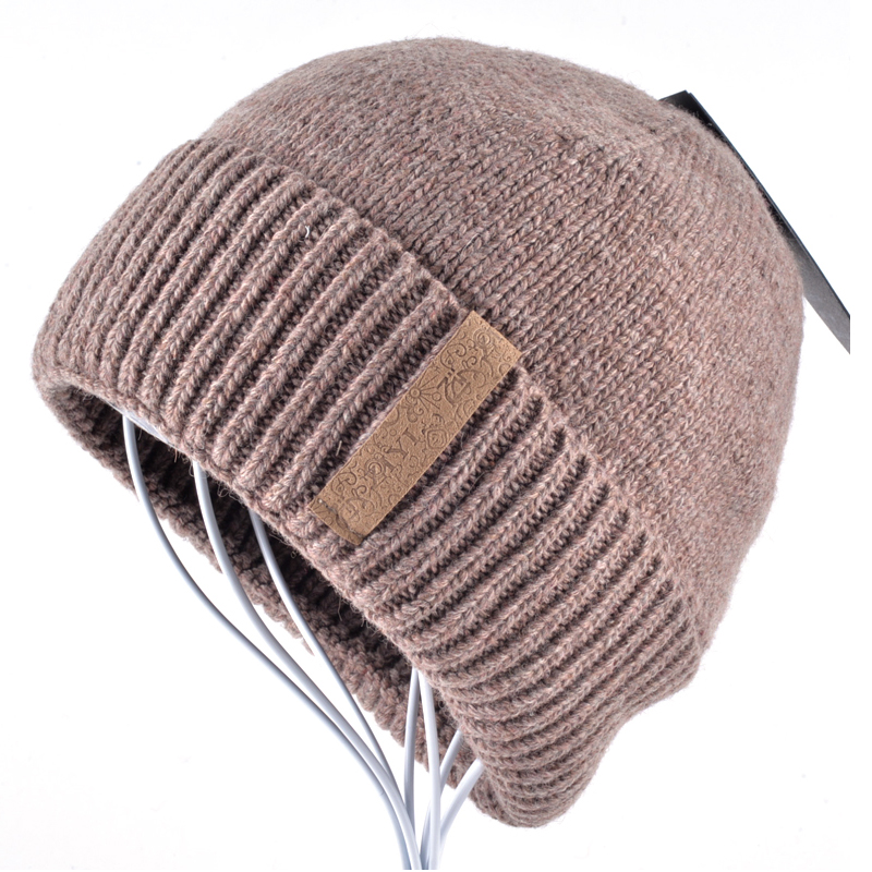 Knitting Pattern Double Layer Hat : Best Winter Beanies Solid Color Hat men Knitted Warm Soft ...