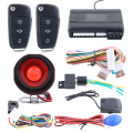 One way car alarm system keyless entry remote engine start stop shock trigger alarm & central door locking automation