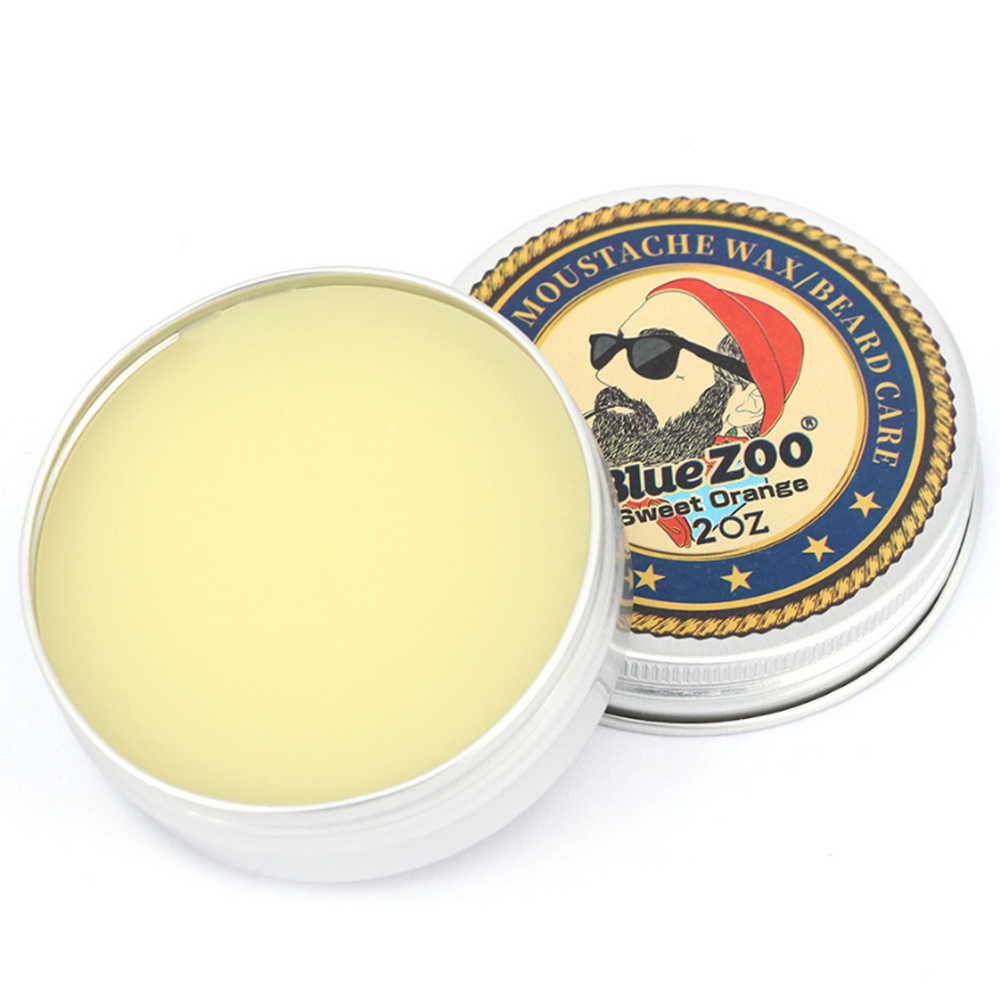 Blue ZOO Moustache Wax All-Natural and Organic Beard Conditioning Balm Beard Care For Men