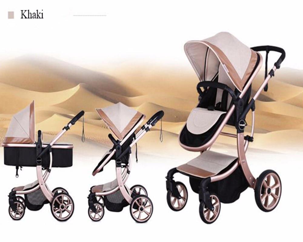 portátil carrinho de bebê alta paisagem passeio carro viagem quatro temporada