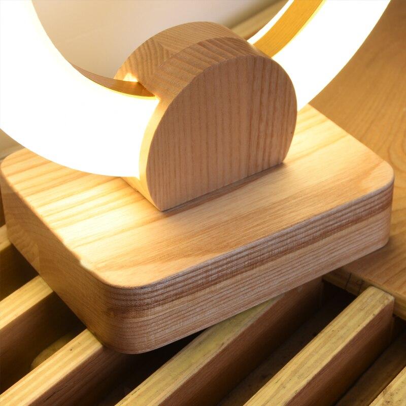 Super LED Wood table lamps bedroom bedside fixtures desk writing YT-47