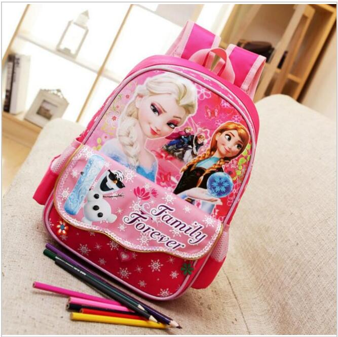 The Snow Queen Elsa Printing Backpack for girls School Bags Children Gifts Unisex kids school bag