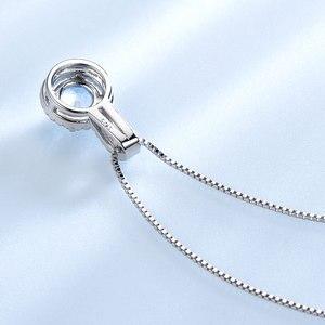 Image 4 - Umchoブルートパーズ宝石用原石のペンダントネックレス女性のための固体 925 スターリングシルバーペンダントブランドファイン結婚式の宝石類のギフト彼女