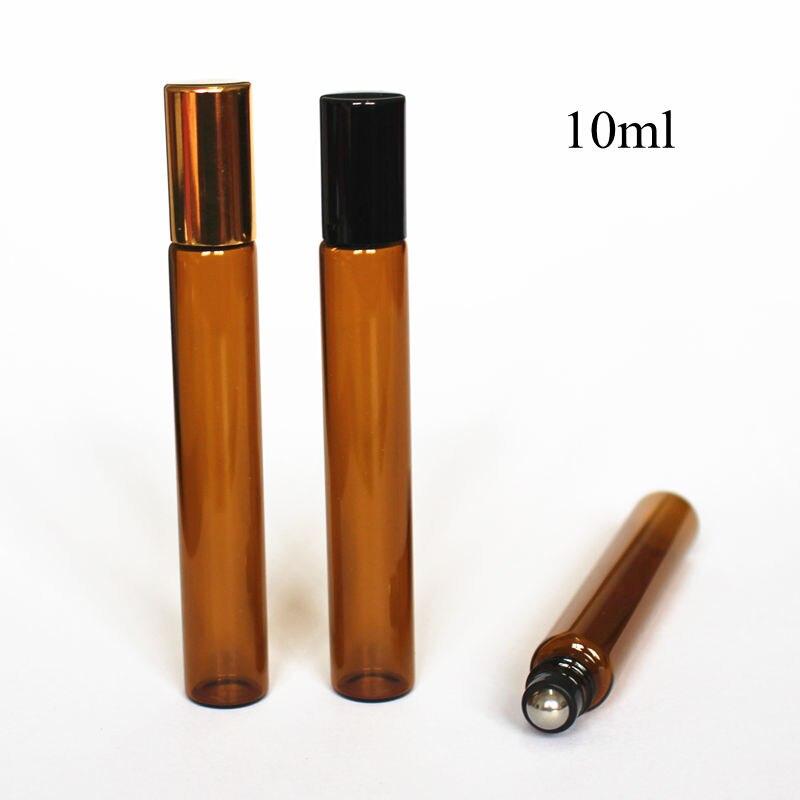 Nachfüllbare Flaschen Schönheit & Gesundheit 5 Teile/paket 10 Ml Braunglasrolle Auf Flasche Dünne Glas Ätherisches Öl Flasche Wih Metall-rollerball Aromatherapie Glas Fläschchen